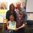 Katrina McKelvey with her family at Dandelion book launch
